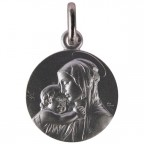 Médaille Vierge à l'enfant en argent