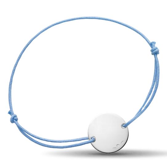 prix spécial pour soldes remise spéciale de Bracelet bébé médaille argent Le Petit Prince cordon Bleu