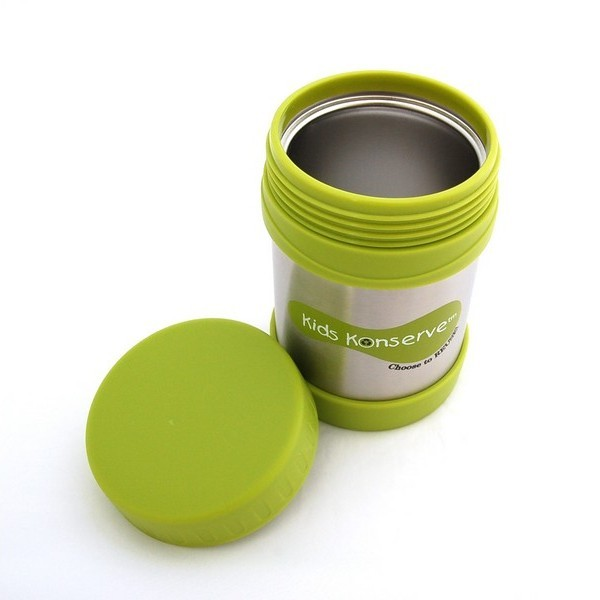 Boite repas isotherme vert pomme en inox marque kids - Boite repas enfant ...