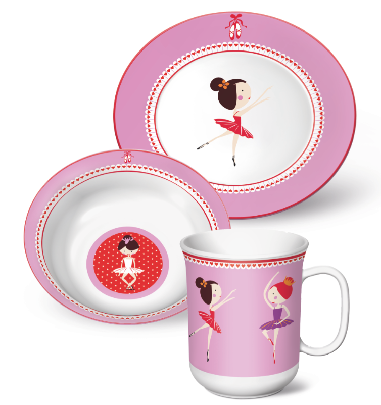 230769bf0f26 Coffret enfant 7 pièces Ballerina. Zoom · vaisselle enfant  couverts bapteme   cadeau ...
