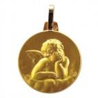 Médaille rond représentant l'Ange de Raphaël