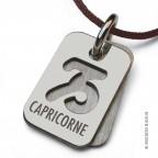 Pendentif Signs Capricorne en argent massif