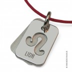 Pendentif Lion en argent massif