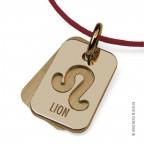 Pendentif Lion en or jaune