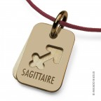 Pendentif Signs Sagittaire en or jaune