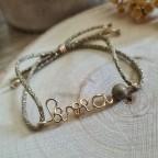 Bracelet avec perle pyrite en or gold filled