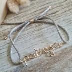 Bracelet avec cordon de couleur en or gold filled