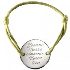bracelet medaille à graver