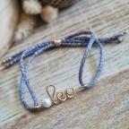 Bracelet avec perle d'eau douce en or gold filled