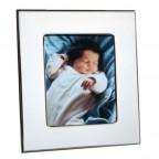 cadre naissance bébé métal argenté
