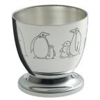 coquetier ercuis pingouins métal argenté