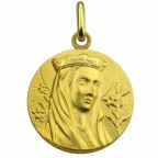 medaille vierge couronne