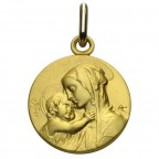 Medaille de bapteme en or