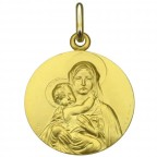 medaille bapteme en or