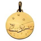 Medaille de cou Petit Prince couché en or