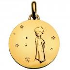 Médaille en or Petit Prince sur sa planète