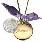pendentif medaille ange petits trésors