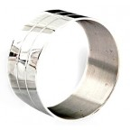 Rond de serviette Elégance métal argenté