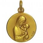 Médaille vierge Maternelle Augis 18 mm en or