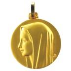 Médaille vierge au voile or 9K, 20 mm