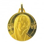 Medaille Vierge Icone en or 18 carats,18 mm